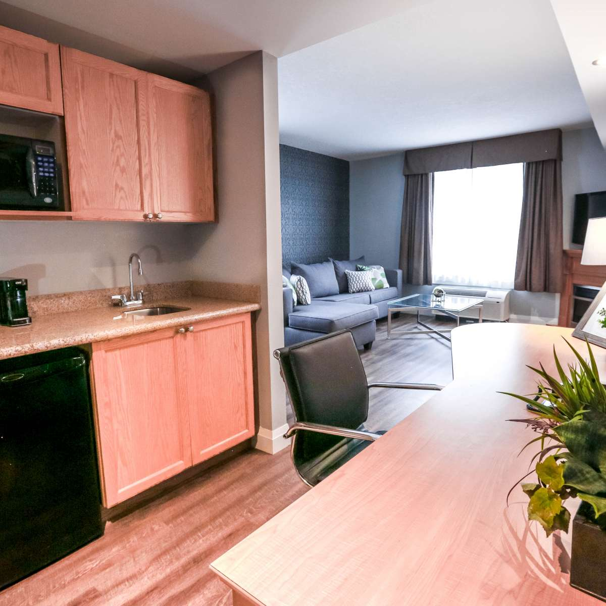 Presidential Suite - Kitchenette with Living Room View