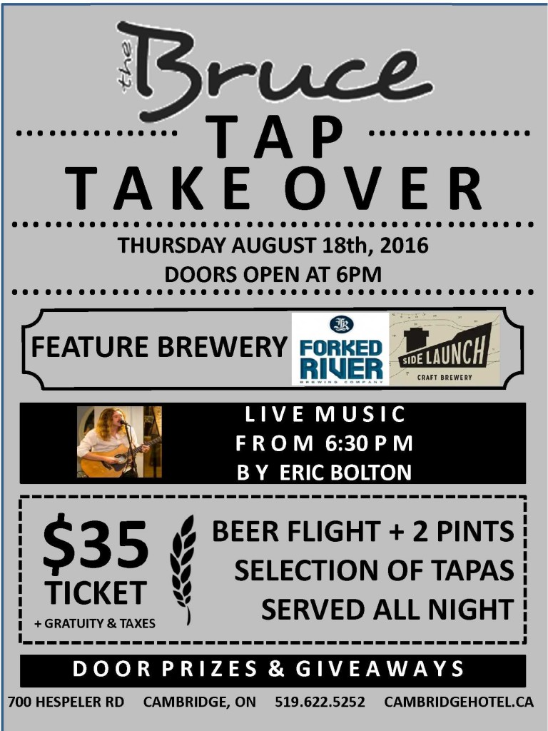 Tap Takeover Flyer August