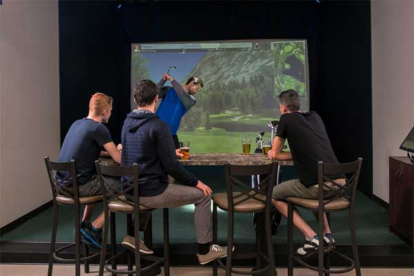 Virtual Golf in the Virtual Sports Lounge