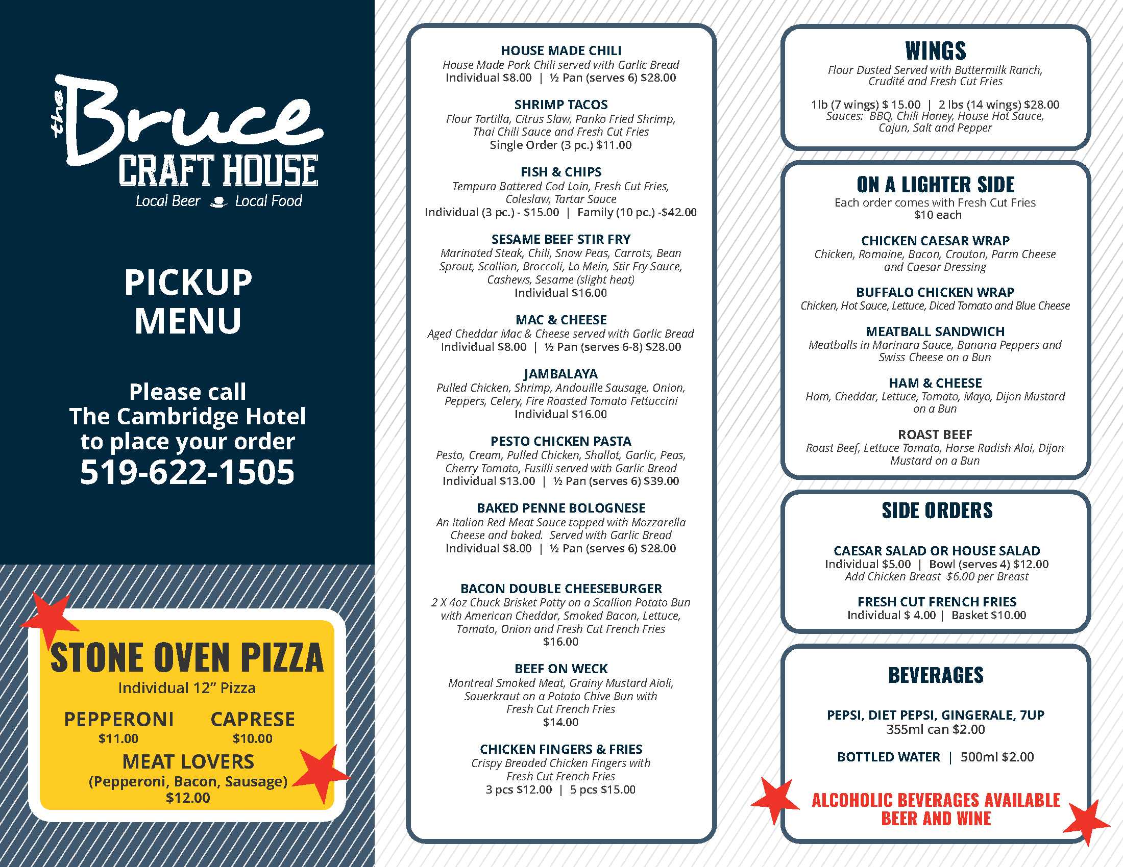 Bruce Craft House (Pick Up Menu)