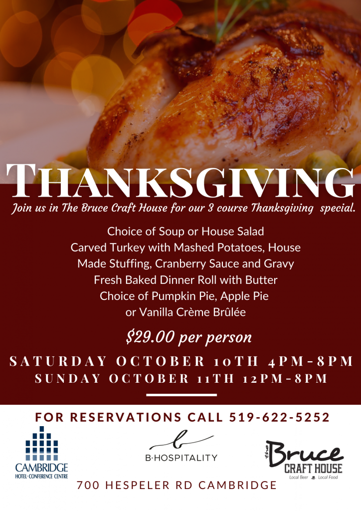 Thanksgiving Dine In Flyer SM