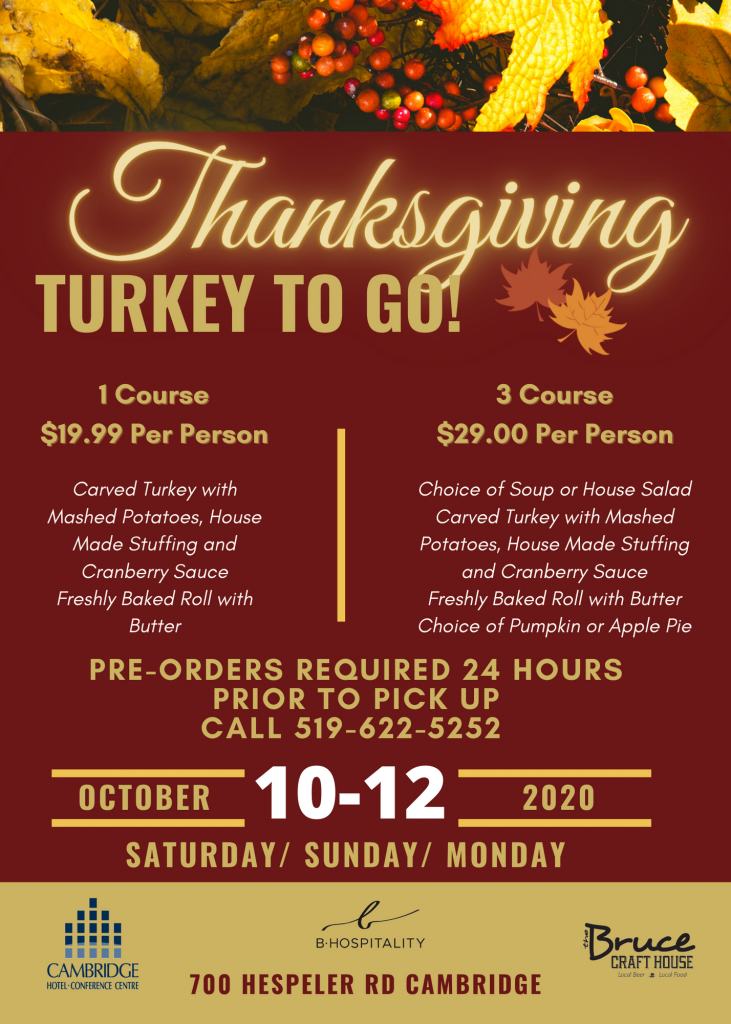 Thanksgiving Turkey To Go Flyer SM